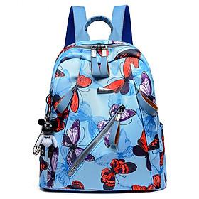 Balo xanh cánh bướm dễ thương đi chơi đi học tiện dụng đựng đồ học tập, ipad kiểu dáng hàn quốc Ngolas A155