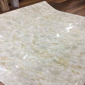 Giấy dán tường giả đá hoa cương màu kem - khổ 1,2m - có sẵn keo