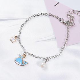 Vòng lắc tay gốm dễ thương cá heo xanh hồng vòng tay nữ phong cách Hàn Quốc