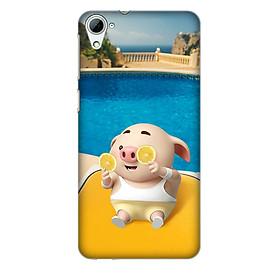 Hình đại diện sản phẩm Ốp lưng nhựa cứng nhám dành cho HTC Desire 826 in hình Heo Tắm Bể Bơi