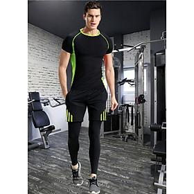 Bộ đồ tập gym nam 3 món HÀNG CAO CẤP xuất khẩu DN2
