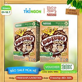 [Chỉ giao HN] Combo 2 Hộp Ngũ cốc ăn sáng KOKO KRUNCH DUO (Hộp 330g)