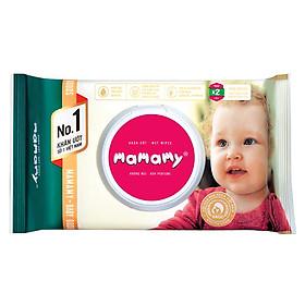 Khăn Ướt Kháng Khuẩn An Toàn Cho Bé Mamamy Có Nắp, Không Mùi - Xanh (80 Tờ)