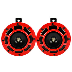 2pcs 12.0V 220dB Loud Compact Electric Blast Tone Air Horn Kit For Motorcycle Car