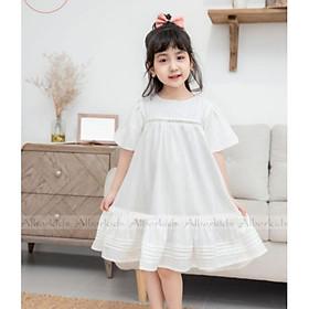 [Tặng nơ xinh kẹp tóc]Váy Đầm Công Chúa Trắng Cho Bé Gái Angel Dress Cho Bé Từ 2-10T