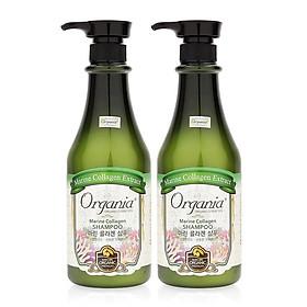 Combo 2 Dầu Gội Chống Rụng Tóc Marine Collagen Shampoo Organia-0