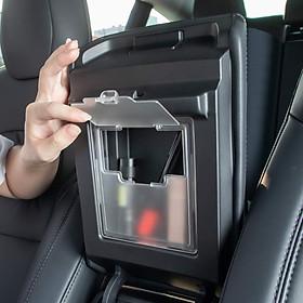 Center Console Organizer Armrest Hidden Storage Box for Tesla Model 3
