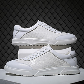 Men's sneakers, breathable, wear-resistant, casual, fashionable leather shoes, Korean men's shoes