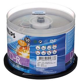 Hộp 50 Đĩa Trắng DVD-R 16 speed 4.7G PHILIPS