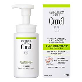 Sữa Rửa Mặt Dạng Bọt Dành Cho Da Dầu Curel Sebum Trouble Care Sebum Care Foaming Wash (150ml)