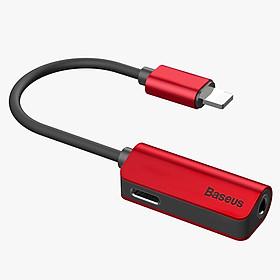 Cáp Chuyển Đổi Lightning Sang Jack Audio 3.5mm Cho Iphone X/7/8 Plus Baseus - Đỏ