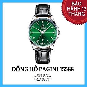 Đồng hồ nam dây da PAGINI PA15588 – Mặt kính chống xước cao cấp - Hiển thị lịch ngày