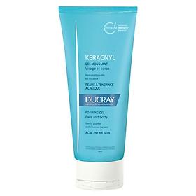 Gel rửa mặt cho da nhờn mụn Keracnyl Gel Moussant Ducray 200ml