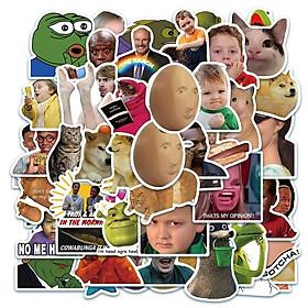 Bộ 50 Sticker chủ đề Meme, trào lưu Internet dán trang trí Macbook, Vali, Mũ bảo hiểm, Điện thoại, Laptop