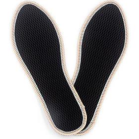Lót giày quế, 2 lớp lưới thoáng, vải cotton hút ẩm, khử mùi hôi chân, giúp êm chân, ấm chân, phòng cảm cúm, cải thiên sức khỏe CI-06