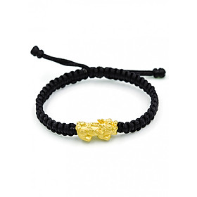 Charm Vàng 24K Tỳ Hưu Tụ Lộc size Trung Ancarat - Tặng kèm vòng tay Handmade