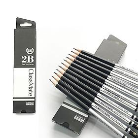 COMBO 6 Cây Bút chì gỗ cao cấp 2B CLASSMATE Fine Art 2B CL-PC902
