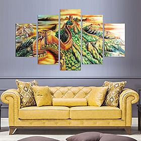 Hình ảnh Tranh treo tường, tranh trang trí PP_ NT508 bộ 5 tấm ghép vạn lý trường thành