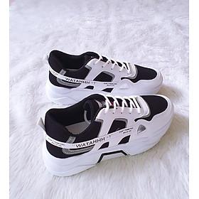 Giày thể thao sneaker nam nâng chiều cao phong cách trẻ trung mới nhất 2020 - 015 đen