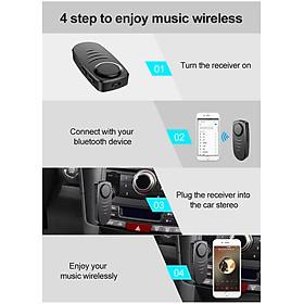 J19 Bluetooth Audio Receiver Mic Handsfree Call Wireless Adapter Bluetooth 5.0 Speaker Headphone Audio Transmitter