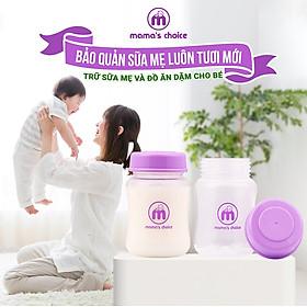 Bình trữ sữa cổ rộng Mama's Choice 180ml | Bình sữa đa năng cho mẹ và bé | Đựng sữa mẹ, sữa bột cho bé | Hàng chính hãng