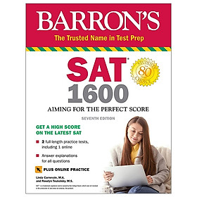 SAT 1600 With Online Test: Aiming For The Perfect Score (Barron's Test Prep)