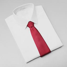 Cà vạt nam, cà vạt bản nhỏ, cà vạt 6cm-Cà vạt lẻ bản nhỏ 6cm màu đỏ trơn