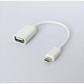 Cáp OTG Micro USB Sang USB 2.0 Âm - Mở Rộng Kết Nối Cho Điện Thoại, Máy Tính Bảng  Với USB, Chuột, Bàn Phím...