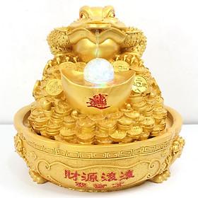 Thác Nước Phong Thủy Cóc Vàng Như Ý