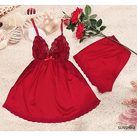 Bộ đồ ngủ lụa cao cấp Sunshine dress - đồ ngủ lụa sexy - đầm ngủ thiết kế - sleepwear - pijama