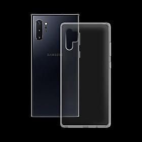 Ốp lưng cho Samsung Galaxy Note 10 Plus - Dẻo Trong - Hàng Chính Hãng