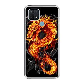 Ốp lưng dẻo cho điện thoại OPPO A15 - 0218 FIREDRAGON - Hàng Chính Hãng