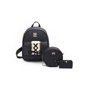 Combo balo, túi đeo chéo và ví đựng card thời trang, xu hướng trẻ