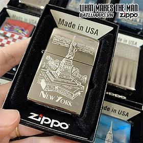Bật Lửa Zippo 250 Statue Of Liberty High Polish Chrome