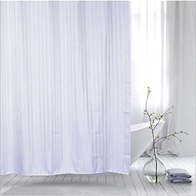 Rèm phòng tắm vải POLYESTER 1.8M*1.8M SỌC BÓNG