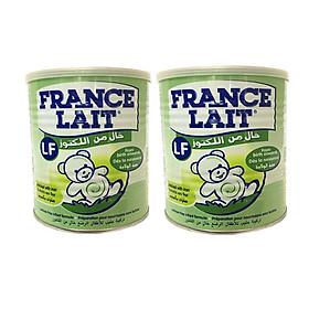 2 Hộp Sữa bột France Lait LF 400G - TIÊU CHẢY dành cho bé từ 0-12 tháng tuổi