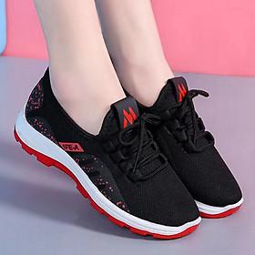 Giày thể thao, giày đi bộ nữ dạng lưới đế mềm 2 màu