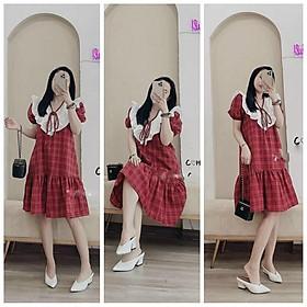Váy bầu,đầm bầu thời trang thiết kế M286 chất lụa thô freesize từ 45 đến 70kg