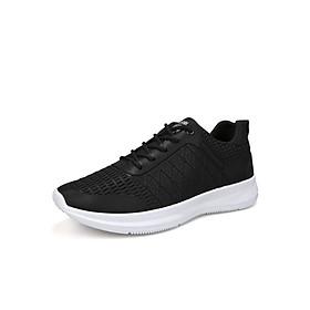 Giày Thể Thao Nam Vải Nhẹ Thoáng Khí 3Fashion - MSP 3126 - Đen