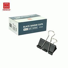 Kẹp bướm, kẹp giấy đen Hồng Hà 32mm 6635 (hộp 12 chiếc)