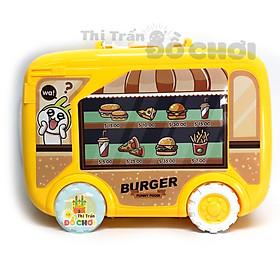 Đồ chơi nhà bếp nấu ăn xe kéo bán hamburger 20 chi tiết cho bé gái 717-3