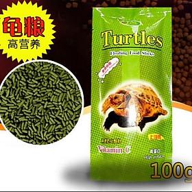 Thức ăn cho rùa cạn gói 100g bổ sung vitamin C- Cám rùa cạn chuyên dụng
