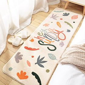 Thảm trải sàn phòng ngủ, thảm phòng khách cao cấp sợi cotton siêu êm, thảm trang trí decor phòng - Hàng chính hãng