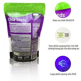 Hạt Chia Đen Absolute Organic 1kg- Có Tem Phản Quang Tem QR Code Chống Hàng Giả Bộ Công An