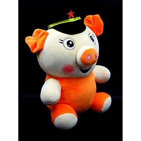 Gấu Bông/ Thú Nhồi Bông Chú Heo Phi Công 26 Cm (Tặng kèm móc khóa da bò thật màu ngẫu nhiên) BA00184