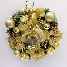 Vòng nguyệt quế trang trí Giáng Sinh kích thước 50cm