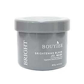 Mặt nạ Thạch Đen Bouyiee Bright trắng da nâng tông chỉ sau 20 phút tinh chất than hoạt tính 50g Tặng cây gạt mặt nạ