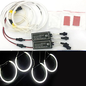 4*131mm White CCFL LED Angel Eyes Halo Rings Lighting Headlight Lamp for BMW E36 E46 E39 E38