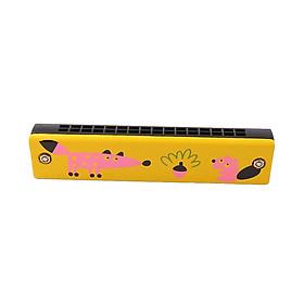 Kèn harmonica bằng gỗ nhiều màu sắc đáng yêu cho bé - giao màu ngẫu nhiên