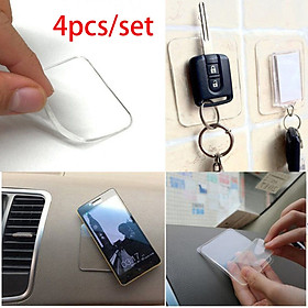 Silicone Gel Pads Clear Anti-Slip Gel Pads Auto Gel Holders 4Pcs